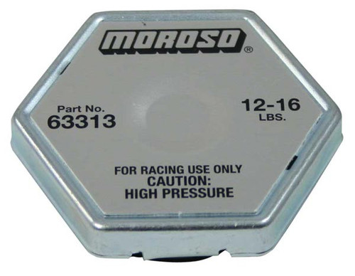 Moroso 63313 Racing Radiator Cap - 12-16 psi - Hex Head - Standard Size