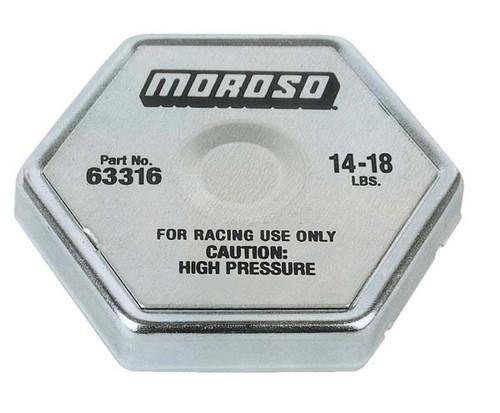 Moroso 63316 Racing Radiator Cap - 14-18 psi - Hex Head - Standard Size