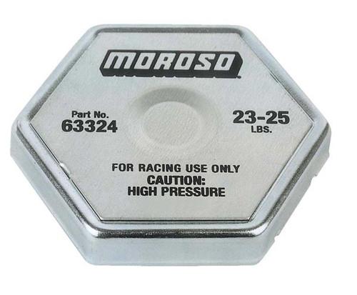 Moroso 63324 Racing Radiator Cap - 23-25 psi - Hex Head - Standard Size