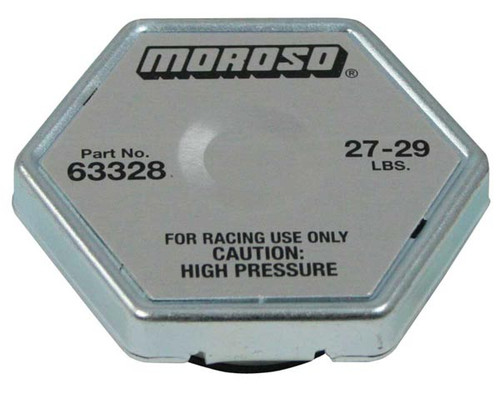 Moroso 63328 Racing Radiator Cap - 27-29 psi - Hex Head - Standard Size