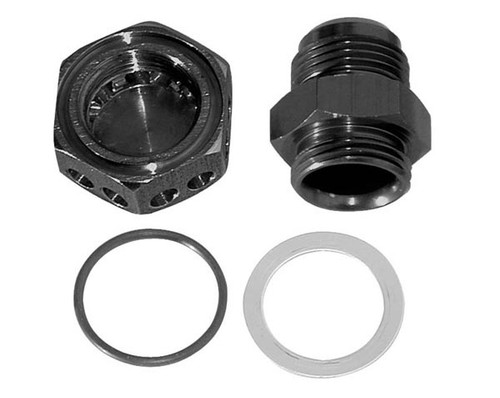 Moroso 22635 Positive Seal Vacuum Pump Bulkhead Fitting - 12AN - Black