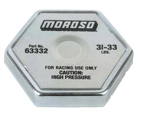 Moroso 63332 Racing Radiator Cap - 31-33 psi - Hex Head - Standard Size