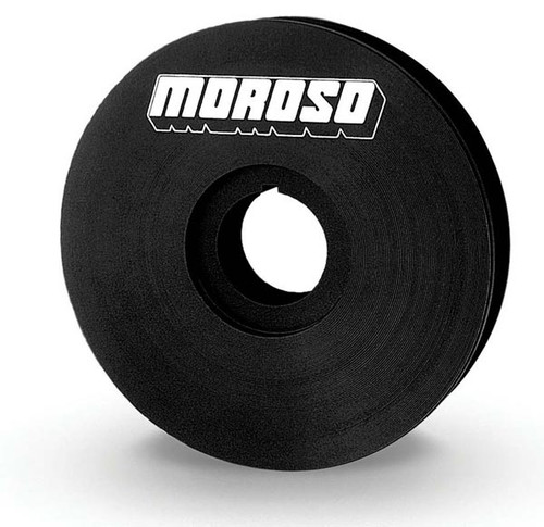 "Moroso 23523 V-Belt Pulley for 1"" Mandrel - Vacuum Pumps -4"" Diameter - Aluminum"