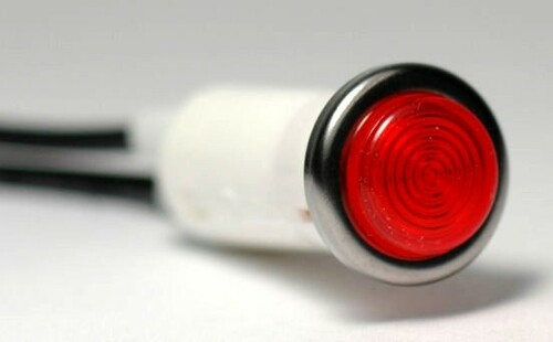 K4 Switches 17465 Small Red Indicator Light