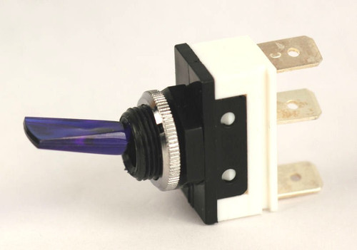 K4 Switches 11118 Off-on Lighted Blue Lever Switch