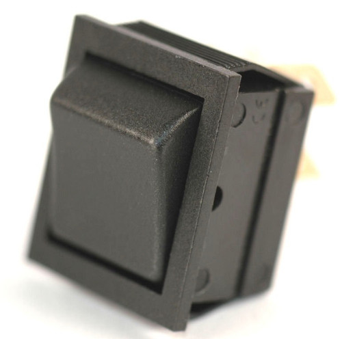 K4 Switches 14225 (On)-Off-(On) Momentary Double Pole Black Rocker Switch
