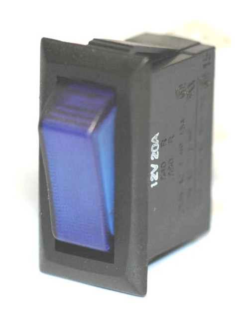 K4 Switches 14308 Off-On Blue Lighted Rocker Switch