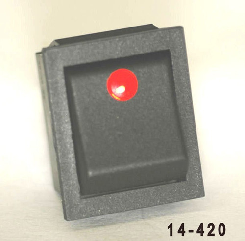 K4 Switches 14420 Off-On Rocker Switch with Red Dot