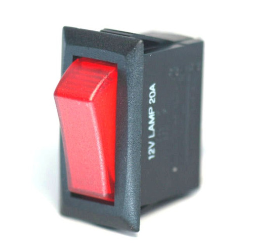 K4 Switches 14305 Off-On Red Lighted Rocker Switch