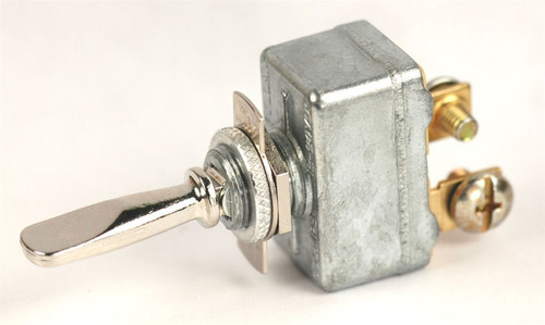 K4 Switches 12122 On-Off-On Single Pole Chrome Metal Lever Switch