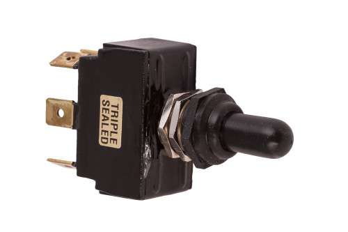 K4 Switches 13210 On-Off-On Sealed Double Pole Lever Switch with Tab Terminals