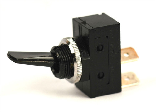K4 Switches 11120 Off-On Black Flat Lever Switch