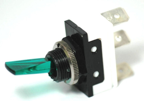 K4 Switches 11116 Off-On Lighted Green Lever Switch