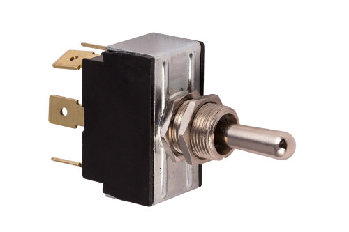 K4 Switches 12204 (On)-Off-(On) Momentary Double Pole Metal Lever Switch