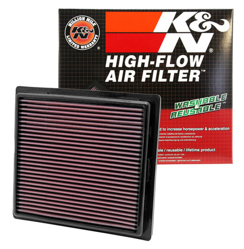 K/&N Filters 33-2457 Air Filter Fits Challenger Charger Durango Grand Cherokee