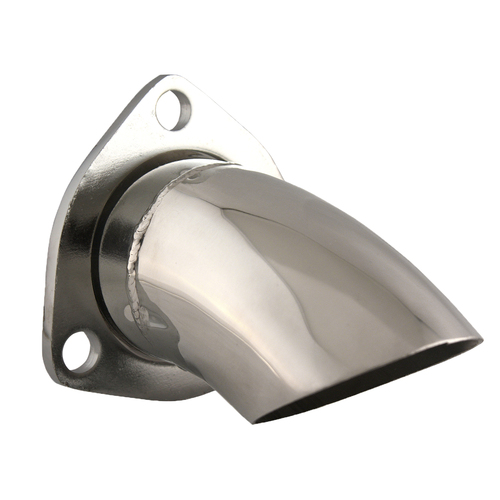 """Quicktime Performance 11250 Stainless Steel 3-Bolt 2.5"""" Turndown Stainless Steel"""