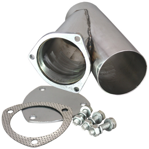 """QTP Quicktime Performance 10400 Stainless Steel Manual Exhaust Cutout - 4.00"""""""