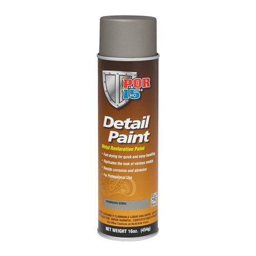 POR 15 41818 Aerosol Restoration Detail Paint - Stainless Steel - 15oz Can