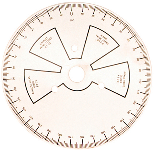 "Proform 66791 9"" Diameter Universal Degree Wheel - White - Steel"