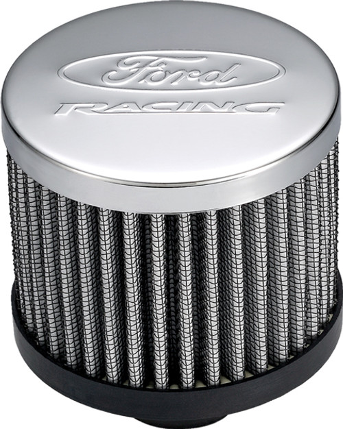 Proform 302-236 Chrome Valve Cover Breather - Open Element Push-In - Ford Racing