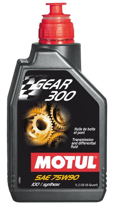 Motul 105777 Gear 300 100% Synthetic Ester 75W90 Trans & Dif Fluid 1 L
