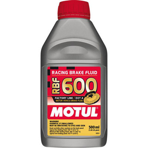 Motul 100949 RBF 600 DOT 4 Racing Brake Fluid - 500ml - 1.05 Pint