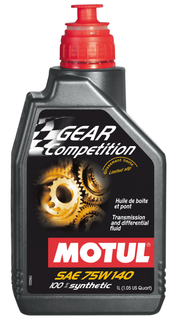 Motul 105779 Gear Competition 100% Synthetic Ester 75W140 Trans & Dif Fluid 1L