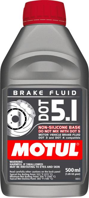 Motul 100951 DOT 5.1 Brake Fluid - 500ml - 1.05 Pint
