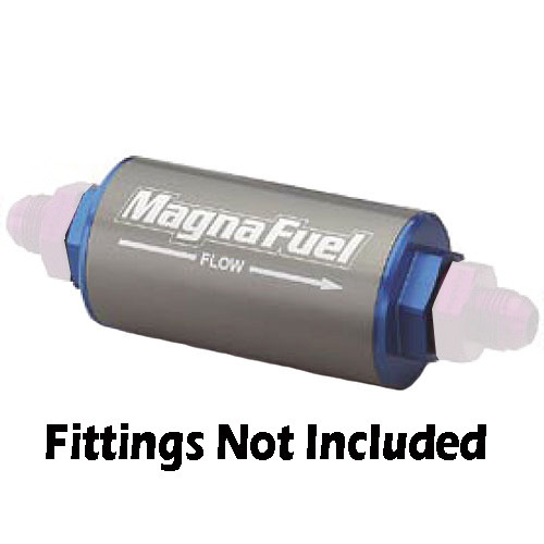 MagnaFuel MP-7009 Billet Fuel Filter - Stainless 74 Micron Element 10AN Ports