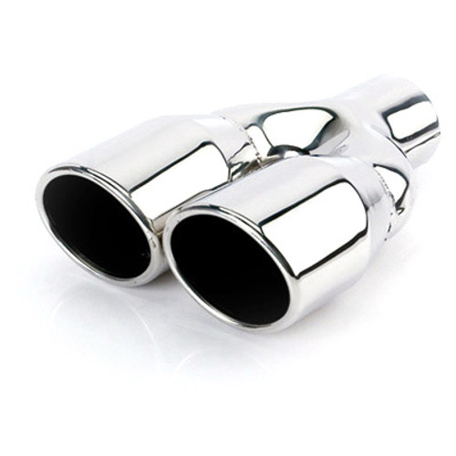 "ETC DT-24030DL Exhaust Tip Dual Oval - 2.25"" Inlet 3.5"" x 3"" Outlets 9.25"" L"