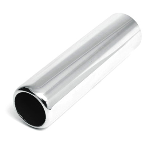 "ETC DT-242490PL Stainless Exhaust Tip Rolled Edge 2.25"" Inlet 2.5"" Outlet - 9"" L"