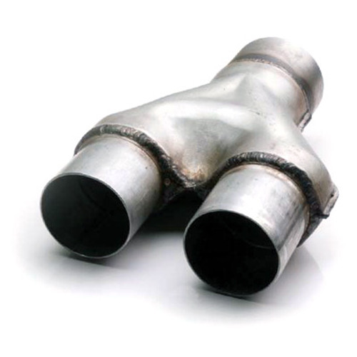 """ETC AY-2525 Aluminized Y-Pipe - 2.5"""" Inlet - Dual 2.5"""" Outlets - 13"""" Length"""