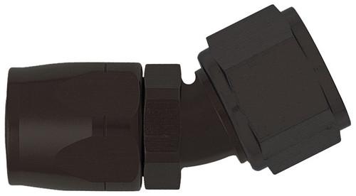 XRP 103004BB 30 Degree Non Swivel -4AN Female Hose End - Black Anodized - Each