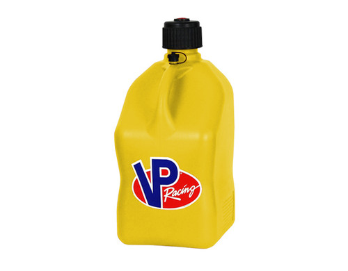 VP Racing Fuel 3552 Plastic Square Fuel Jug - Yellow - 5 Gallon Capacity