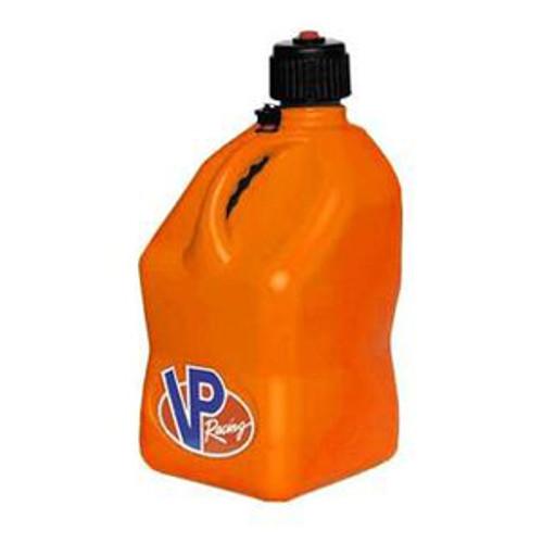 VP Racing Fuel 3572 Plastic Square Fuel Jug -Orange - 5 Gallon Capacity