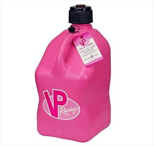 VP Racing Fuel 3812 Plastic Square Fuel Jug - Pink - 5 Gallon Capacity