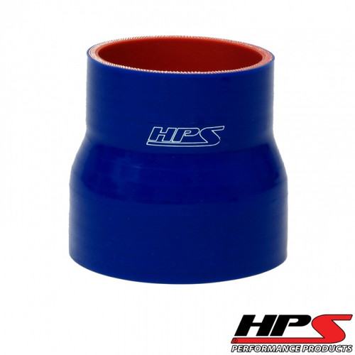 """HPS 4 Ply Reinforced Straight Silicone Hose Reducer/Adapter 2"""" x 3"""" ID Blue"""