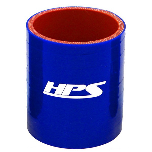 """HPS HTSC-100-BLUE 4 Ply Reinforced Silicone Hose Coupler - 1"""" ID - 3"""" Long Blue"""
