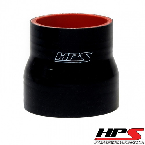 """HPS 4 Ply Reinforced Straight Silicone Hose Reducer/Adapter 4"""" x 5"""" ID Black"""