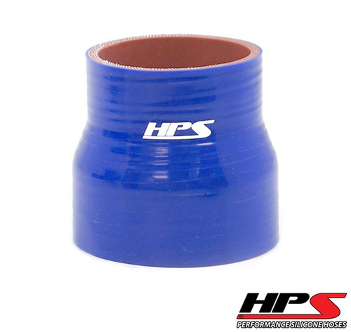 """HPS 4 Ply Reinforced Straight Silicone Hose Reducer/Adapter 1"""" x 1.5"""" ID - Blue"""