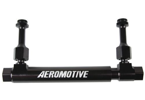 Aeromotive 14201 Adjustable Dual Feed Fuel Log for 4150 & 4500 Carb Black Billet