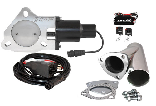 """QTP QTEC30CPK 3"""" Electric Exhaust Cutout - Y-Pipe & Wireless Remotes"""