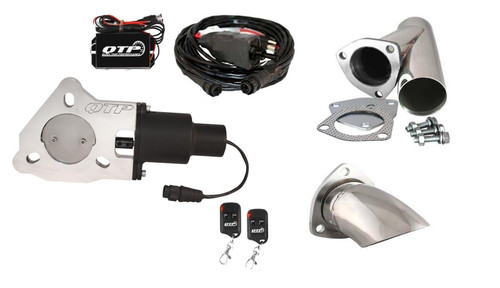 """QTP QTEC25CPK2 2.5"""" Exhaust Cutout - Y-Pipe, Turn Down & Wireless Remotes"""