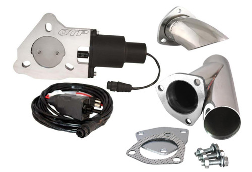 "QTP QTEC25CPK1 2.5"" Electric Exhaust Cutout 3-Bolt Flange - Y-Pipe & Turn Down"