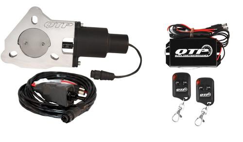 "QTP QTEC225K 2.25"" Electric Exhaust Cutout 3-Bolt Flange with Wireless Remotes"
