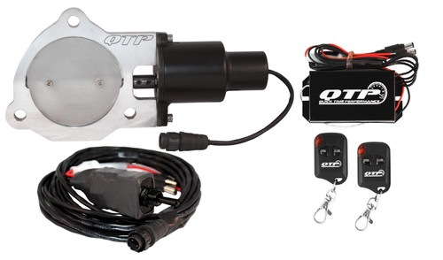 "QTP QTEC35K 3.5"" Electric Exhaust Cutout 3-Bolt Flange with Wireless Remotes"