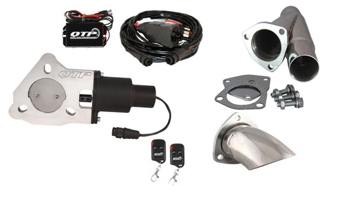 """QTP QTEC225CPK2 2.25"""" Exhaust Cutout - Y-Pipe, Turn Down & Wireless Remotes"""