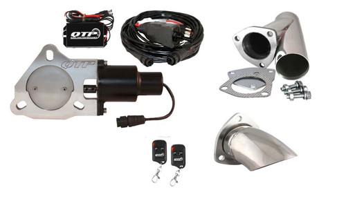 """QTP QTEC30CPK2 3"""" Exhaust Cutout - Y-Pipe, Turn Down & Wireless Remotes"""