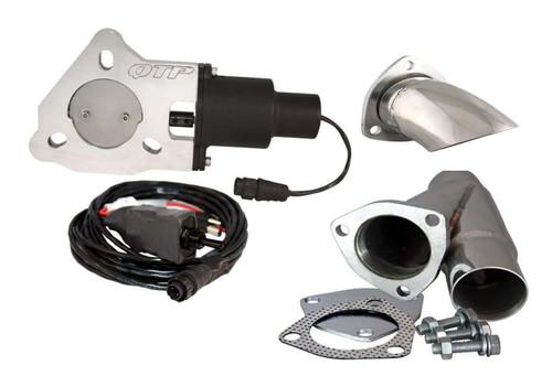 "QTP QTEC225CPK1 2.25"" Electric Exhaust Cutout 3-Bolt Flange - Y-Pipe & Turn Down"