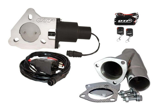 """QTP QTEC225CPK 2.25"""" Electric Exhaust Cutout - Y-Pipe & Wireless Remotes"""
